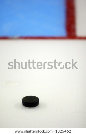 Puck on ice
