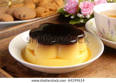 Pudding desserts catered on a table