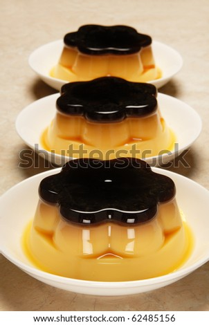 Pudding flan egg food sweet