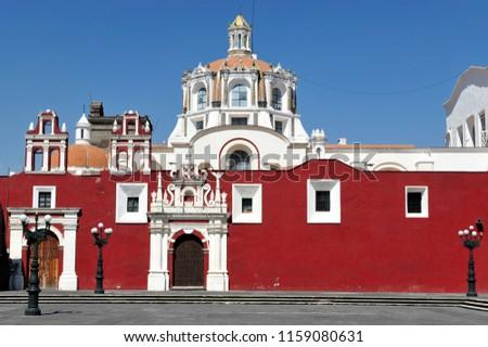 Puebla Cathedral, a Roman Catholic church in the city of Puebla, Mexico. #1159080631