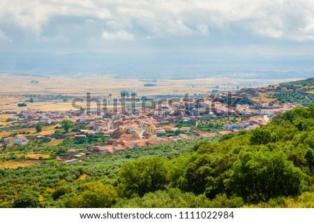 Puebla de Alcocer, in Province of Badajoz, Extremadura, Spain