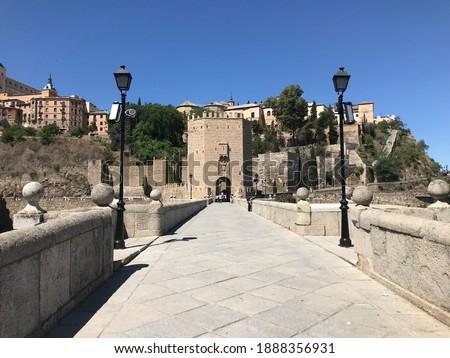 Puente de Alcantara in Toledo Spain Foto stock ©