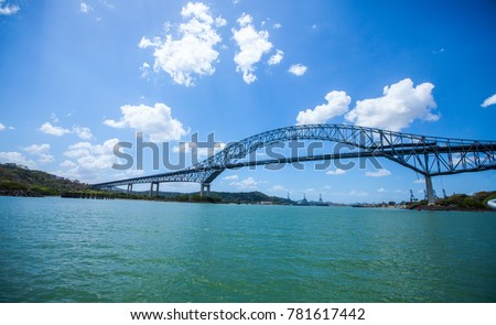Shutterstock Puente las Americas is a road Bridge in Panama which spans the Pacific entrance to the Panama Canal