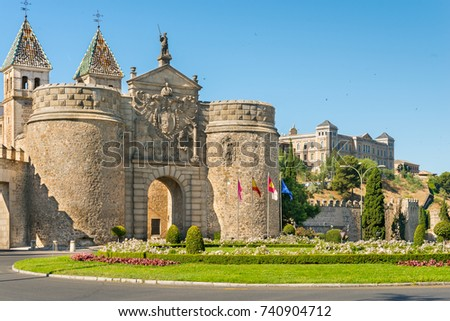 Shutterstock Puerta de Bisagra or Alfonso VI Gate  in city of Toledo, Spain.