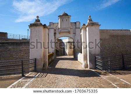 Puerta de Palmas entrance in Badajoz, Spain
