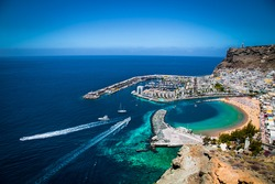 Puerto de Mogan town on the coast of Gran Canaria island, Spain.