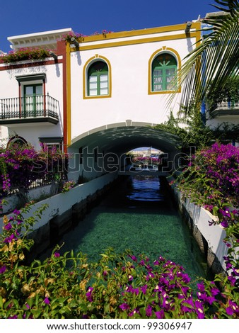 Puerto Mogan, Gran Canaria, Canary Islands, Spain - stock photo