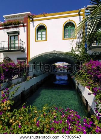 Puerto Mogan, Gran Canaria, Canary Islands, Spain - stock photo