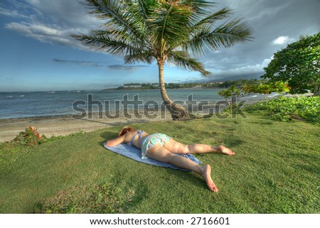 Puerto Plata - Caribbean - woman on a beach