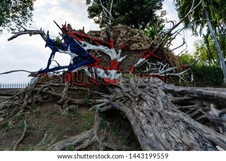 Puerto Rico art abd flags. Foto stock ©
