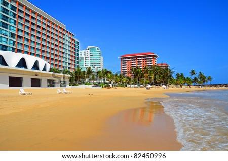 Puerto Rico - Condado Beach - stock photo