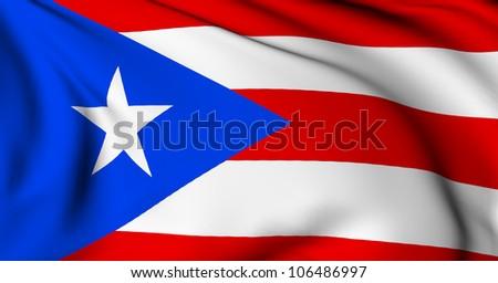Puerto Rico flag - stock photo
