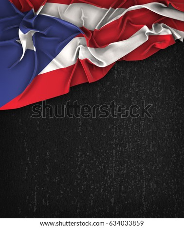 puerto rico flag vintage on a...