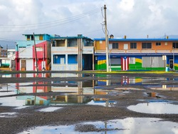 Puerto Rico House and Reflection on the Water.