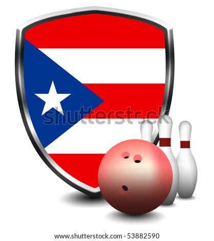 PUERTO RICO shield. Skittles