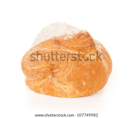 Puff pastry isolated on the white background