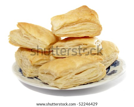Puff pastry on the plate
