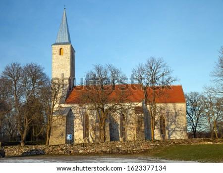 Puha church in winter time, Saaremaa, Estonia Stock fotó ©