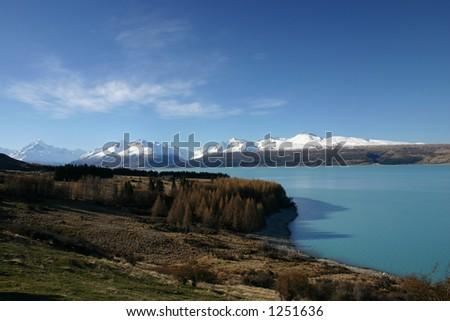 Pukaki River - Mount Cook NAtional Park - New Zealand