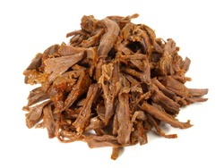 Pulled Beef on white Background