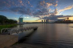 Pullman Putrajaya Lakeside in sunrise time Putrajaya, Malaysia