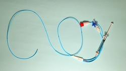 Pulmonary artery catheter used for right heart catheterization procedure