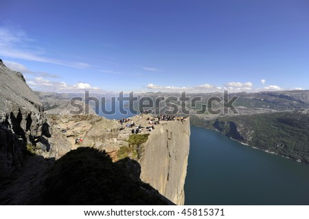 pulpit in Norway - stock photo