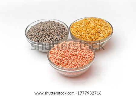 Pulses, Lal Masoor Dal, Kali Masoor, Sabut Urad Pulses, Arhar Pulses, Dal, Beans in bowl, organic Pulses, Beans