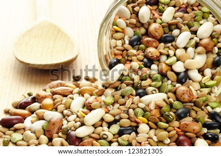 Pulses soup mixture in a jar