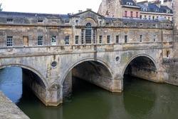 Pulteney bridge in Bath, England.