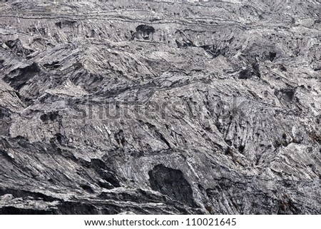 pumice after volcano eruption, gray background