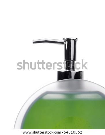 Pump Soap Dispenser with Green Liquid Soap