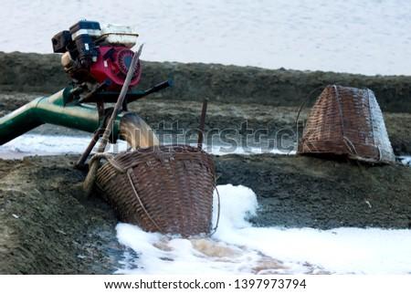 Pumping engine, Pumping seawater in salt farming.