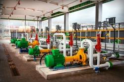 pumping equipment at the modern oil tank farm