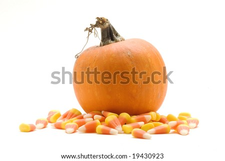 Pumpkin and Candy Corn