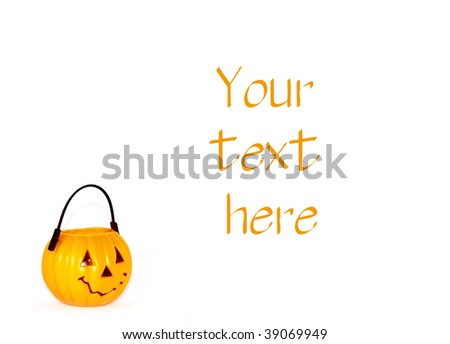 Pumpkin bucket with space for text