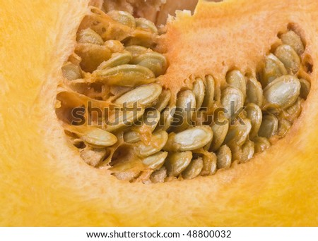 Pumpkin flesh and seeds
