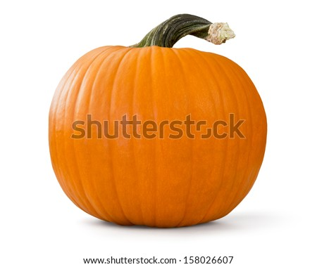 pumpkin isolated on white...