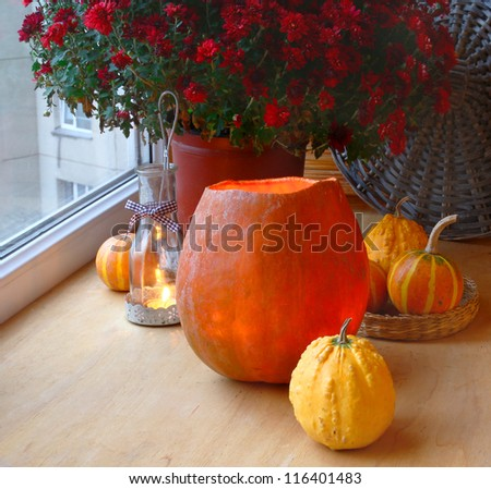 Pumpkin-lantern to the holiday halloween.