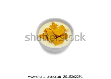 Pumpkin Ordination isolated on white background. Thai dessert Stock photo ©