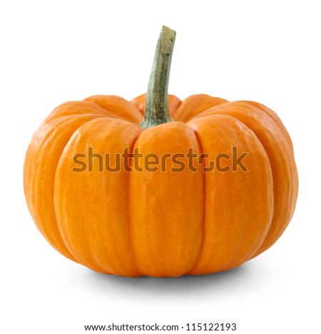 pumpkin over white background - stock photo