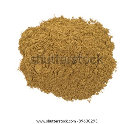 Pumpkin pie spice isolated on a white background.