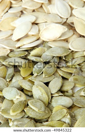 Pumpkin seeds. Food background