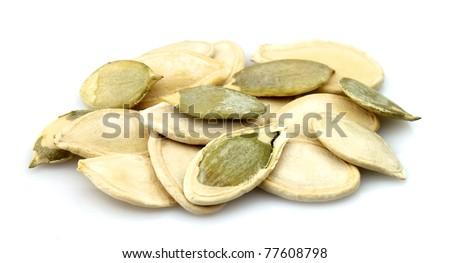 Pumpkin sunflower seeds close up