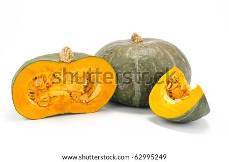 Pumpkin whole and sliced