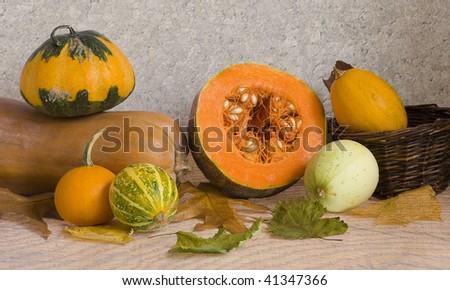 pumpkins and marrow