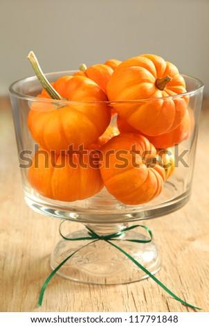 Pumpkins in a vase