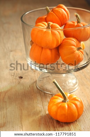 Pumpkins in a vase