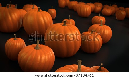 Pumpkins ready to do halloween