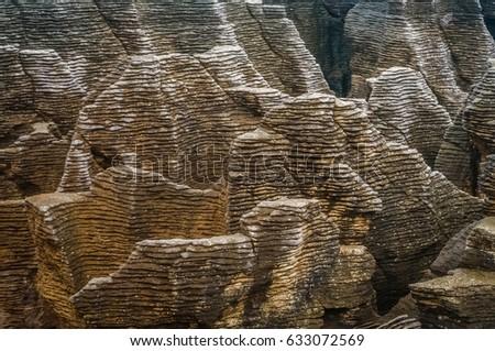 Punakaki Pancake Rocks in Paparoa National Park, New Zealand